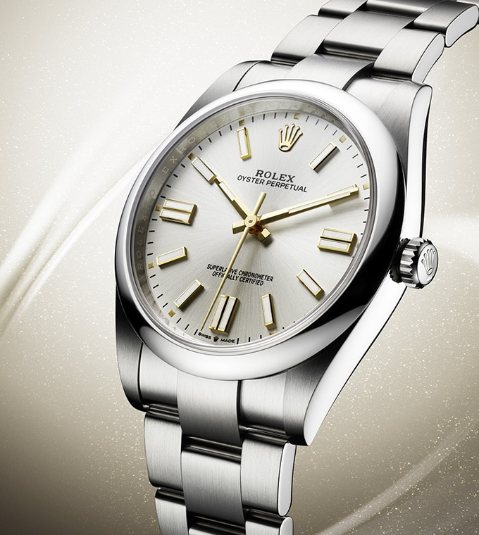 Oyster Perpetual 41 Oyster, 41 mm, Edelstahl Oystersteel